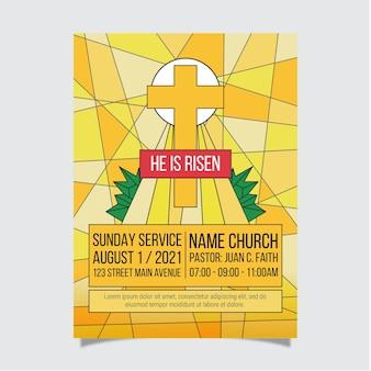 Platte kerk folder sjabloon