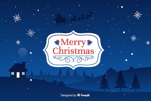 Platte kerst achtergrond traditie
