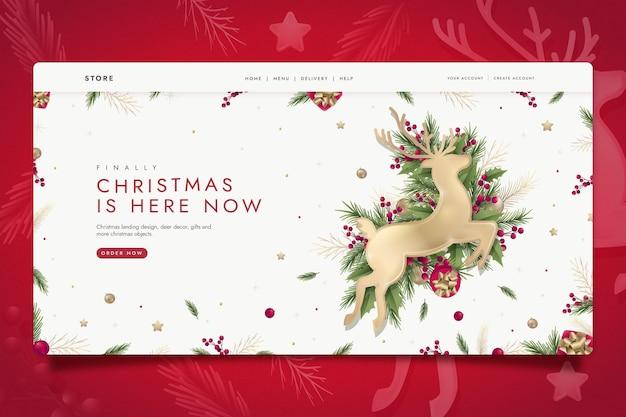 Platte kerst bestemmingspagina