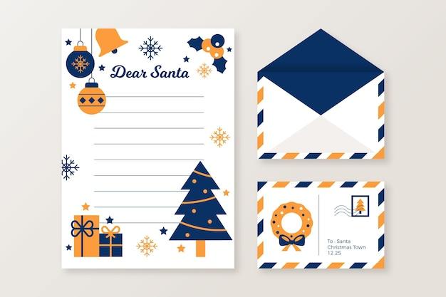 Platte kerst briefpapier sjabloon set