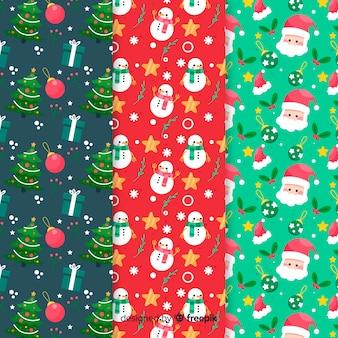 Platte kerst patroon collectie