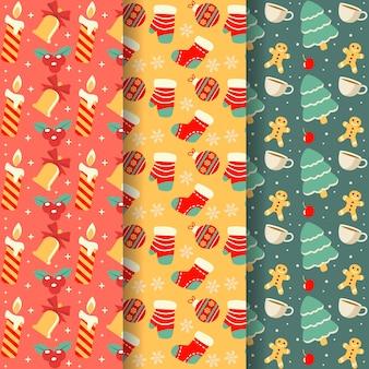Platte kerst patroon pack