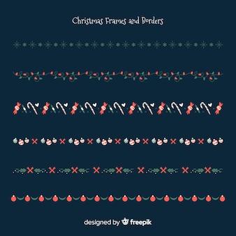 Platte kerst randen