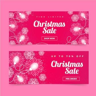 Platte kerst verkoop banners