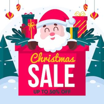 Platte kerst verkoopseizoen