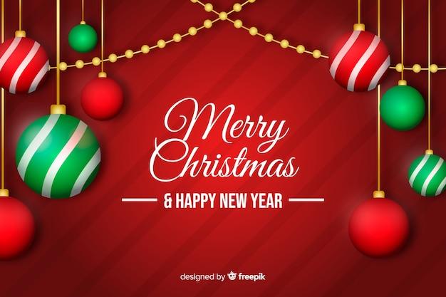 Platte kerstballen met bericht