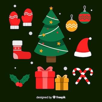 Platte kerstboom collectie