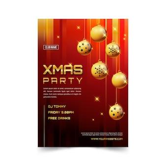 Platte kerstfeest folder sjabloon