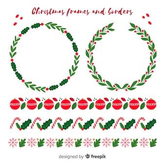 Platte kerstframes en randen