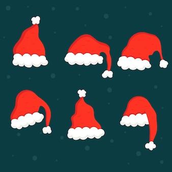 Platte kerstmuts collectie