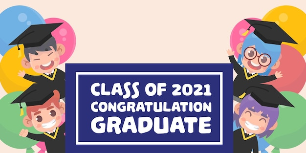 Platte klasse van 2021 illustratie