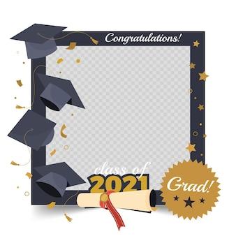 Platte klasse van 2021-kadersjabloon