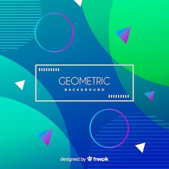 Platte kleurovergang geometrische vormen achtergrond