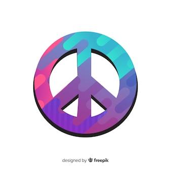 Platte kleurovergang vredesteken achtergrond