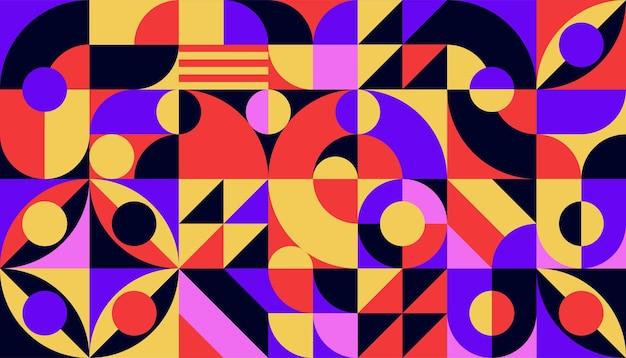 Platte kleurrijke abstracte geometrische vormen achtergrond sjabloon