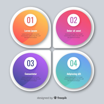 Platte kleurrijke infographic achtergrond