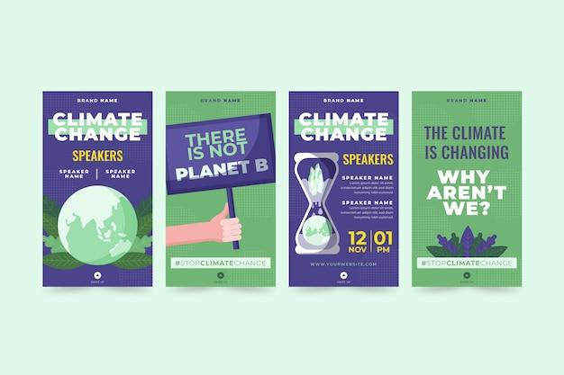 Platte klimaatverandering instagram verhalencollectie