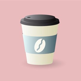 Platte koffiekopje illustratie