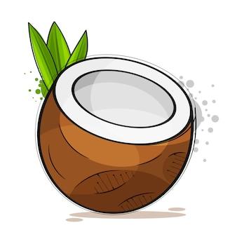 Platte kokosnootstijl. vector