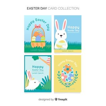 Platte konijntje paaskaart collectie