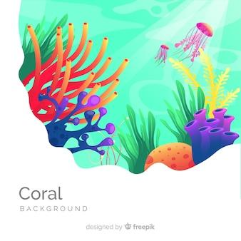 Platte koraal achtergrond