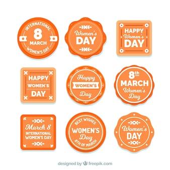 Platte labels voor dames / herencollectie