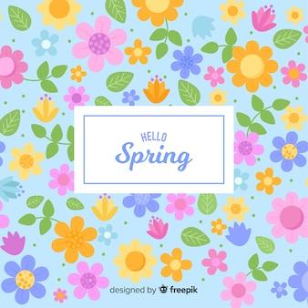 Platte lente achtergrond