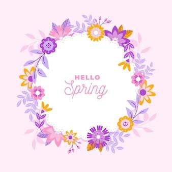Platte lente bloemen frame