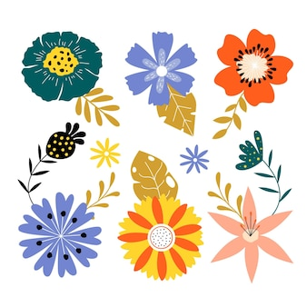 Platte lente bloemencollectie