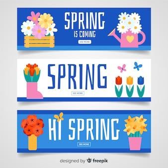 Platte lente sjabloon voor spandoek