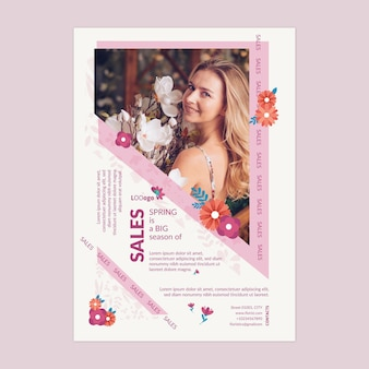 Platte lente verkoop a4 poster sjabloon
