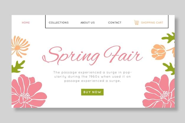 Platte lente verkoop bestemmingspagina