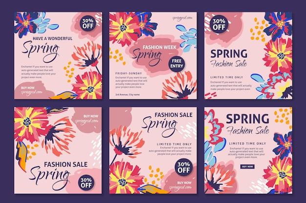 Platte lente verkoop instagram-berichten
