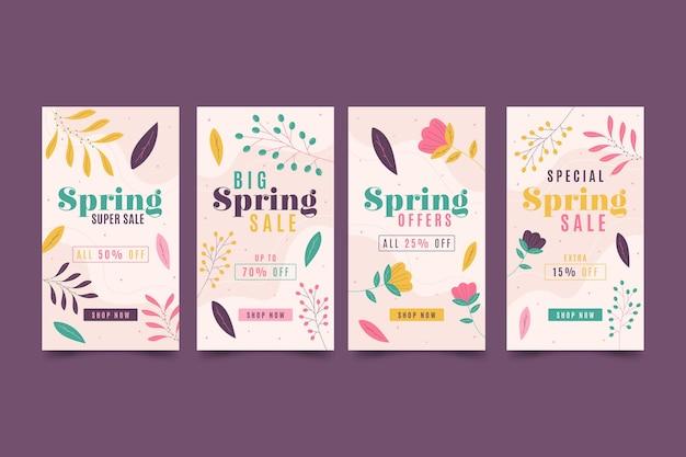 Platte lente verkoop instagram-verhalen
