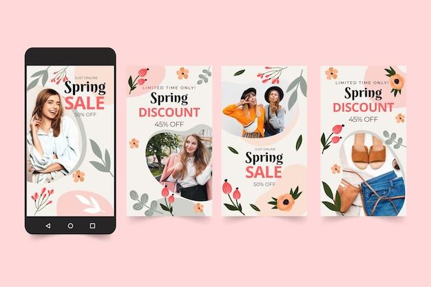 Platte lente verkoop instagram verhalencollectie