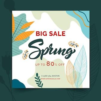 Platte lente verkoop vierkante flyer