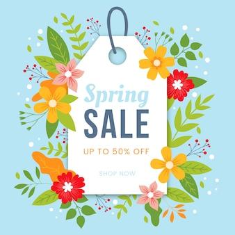 Platte lente verkoop