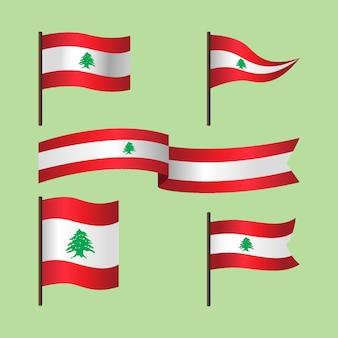 Platte libanese vlagcollectie