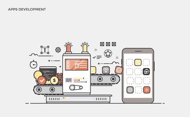 Platte lijn moderne concept illustratie