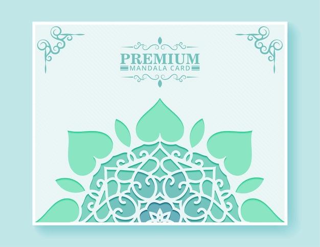 Platte mandala achtergrond illustratie