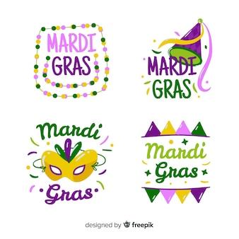 Platte mardi gras-badgecollectie
