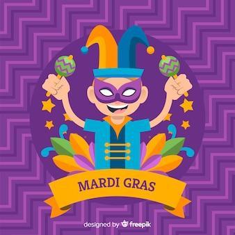 Platte mardi gras carnaval achtergrond