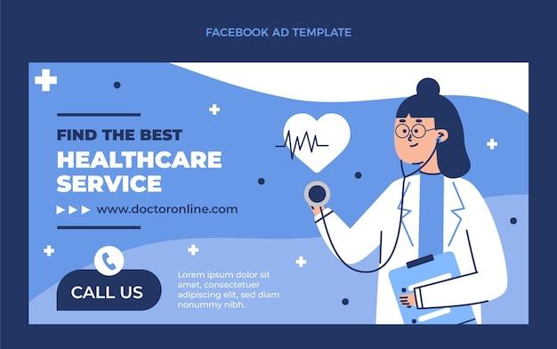 Platte medische facebook-advertentiesjabloon