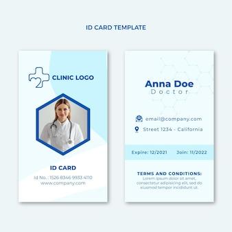 Platte medische identiteitskaart