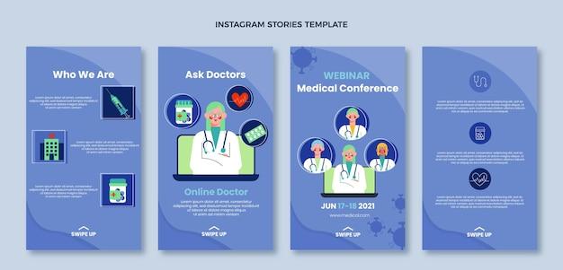 Platte medische ontwerp medische ig verhalen