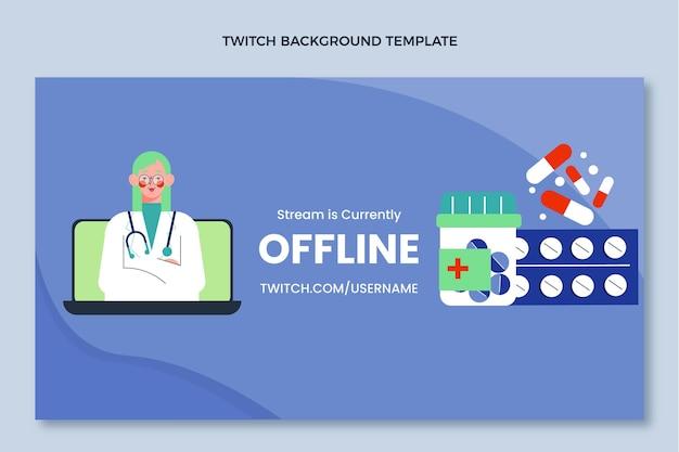 Platte medische ontwerp medische twitch achtergrond