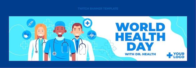 Platte medische twitch banner