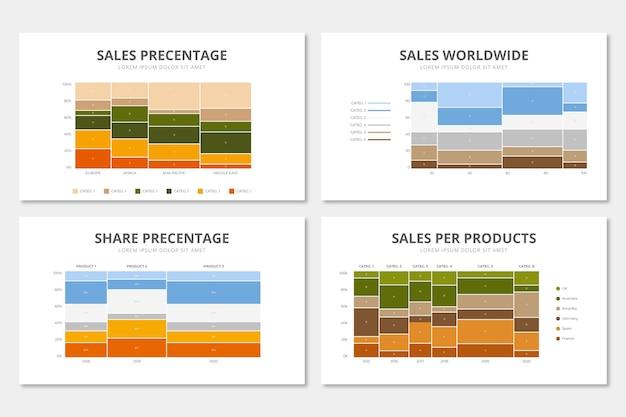 Platte mekko grafiek infographic