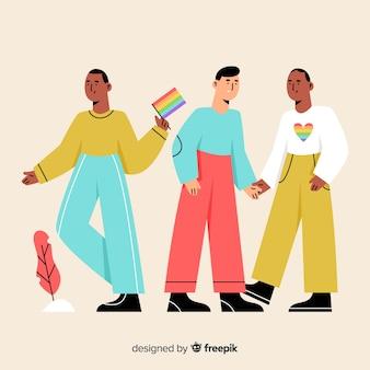 Platte mensen vieren pride-dag
