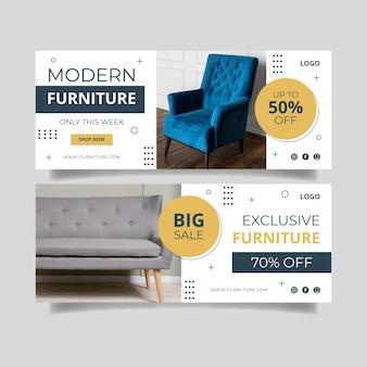 Platte meubels verkoop banner